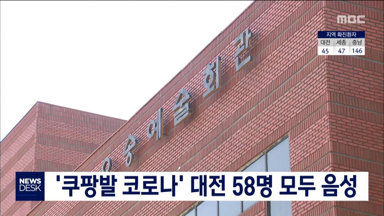 '쿠팡 발 코로나' 대전 58명 모두 음성