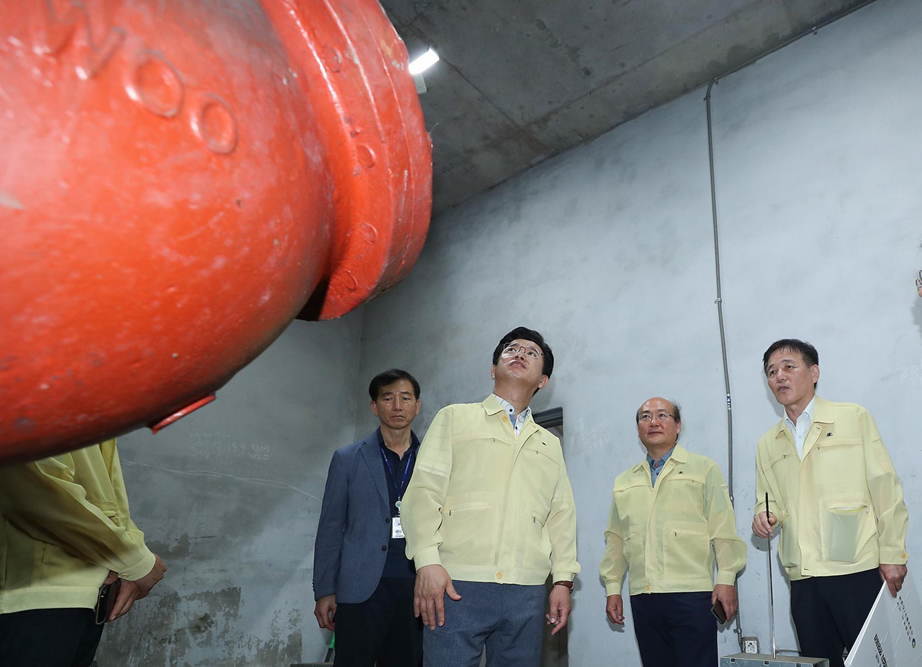 태풍 대비 한밭지하차도 배수시설 점검